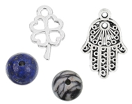 www.snowfall-beads.com - New trendy charms and natural stone beads