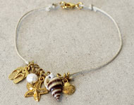 www.snowfall-beads.com - Jewelry project: Summer Anklet