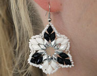 www.snowfall-beads.fr - Projet bijoux: GemDuo Earrings