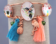 www.snowfall-beads.com - Jewelry project: Tropical Bracelet