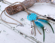 www.snowfall-beads.com - Jewelry project: Dream catcher Necklace