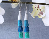 www.snowfall-beads.de - Schmuckprojekt: Ibiza Style Earrings