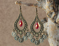 www.snowfall-beads.nl - Sieradenproject: Coin Earrings