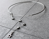 www.snowfall-beads.be - Sieradenproject: Falling Stars Necklace