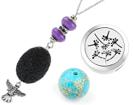 www.snowfall-beads.com - New natural stone beads and perfume accessories