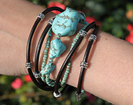 www.snowfall-beads.com - Jewelry Project: Chunky Bracelet