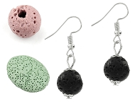 www.snowfall-beads.com - New lava rock beads and various jewelry