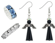 www.snowfall-beads.com - New strass spacer beads and angel earrings