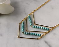 www.snowfall-beads.fr - Projet Bijoux: Aztec Necklace