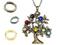 www.snowfall-beads.com - New rings and tree necklaces