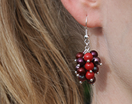 www.snowfall-beads.be - Sieradenproject: Cluster Earrings