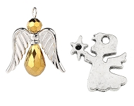 www.snowfall-beads.com - New angel pendants