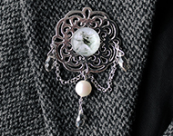 www.snowfall-beads.fr - Projet Bijoux: Angel Brooch