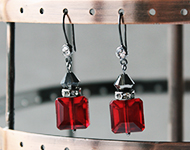 www.snowfall-beads.de - Schmuckprojekt: Crystal Square Earrings
