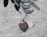 www.snowfall-beads.fr - Projet Bijoux: Lava Heart Necklace