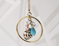 www.snowfall-beads.be - Sieradenproject: Seashell Necklace