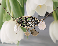 www.snowfall-beads.com - Jewelry Project: Spring Necklace