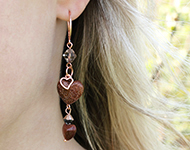 www.snowfall-beads.de - Schmuckprojekt: Natural Heart Earrings