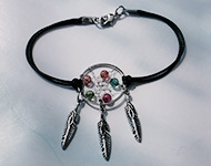 www.snowfall-beads.com - Jewelry Project: Dreamcatcher Bracelet