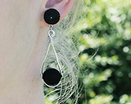 www.snowfall-beads.de - Schmuckprojekt: Wire Wrap Earrings
