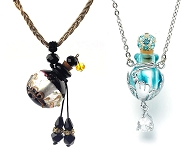 www.snowfall-beads.com - New necklaces with glass bottles and trendy bags