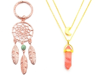 www.snowfall-beads.com - New key fobs and layered necklaces