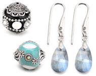 www.snowfall-beads.com - New Kashmiri beads and earrings