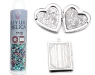 www.snowfall-beads.de - Neue Medaillons und Miyuki Delica Mischungen
