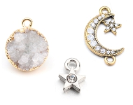 www.snowfall-perles.be - Nouveaux pendentifs et connecteurs colorés