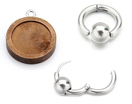 www.snowfall-beads.com - New wooden settings and stainless steel earrings
