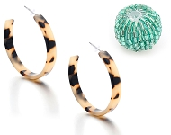 www.snowfall-beads.com - New beads with seed beads and open hoop earrings