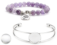 www.snowfall-beads.com - New bracelets with cabochons and natural stone