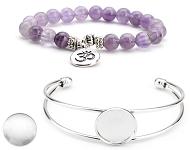 www.snowfall-perles.be - Nouveaux bracelets avec cabochons et pierre naturelle