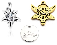 www.snowfall-beads.com - New charms and 925 silver pinch bails for pendants