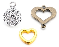 www.snowfall-beads.com - Many new heart-shaped items