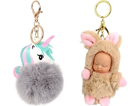 www.snowfall-beads.com - New fluffy key fobs