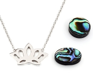 www.snowfall-beads.com - New items of stainless steel and mother of pearl