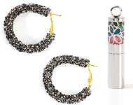 www.snowfall-beads.com - New earrings with strass and natural stone