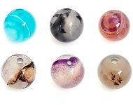 www.snowfall-beads.be - Nieuwe Agaat kralen in diverse maten