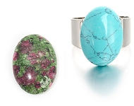www.snowfall-beads.com - New natural stone cabochons and rings