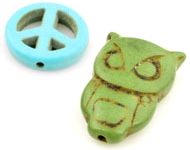 www.snowfall-beads.co.uk - New Turquoise Howlite beads