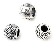 www.snowfall-beads.co.uk - New 925 silver large-hole-style beads