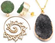 www.snowfall-fashion.nl - Nieuwe tribal oorbellen en natuursteen sieraden