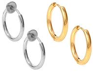 www.snowfall-fashion.com - New stainless steel hoop earrings